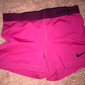 Nike Pro Pink Short Spandex Dark Fit
